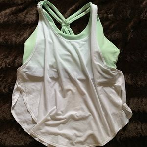 Fabletics Tank with Built-In Sports Bra, XL, NWT